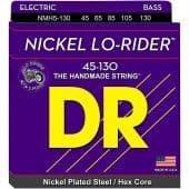 45-130 DR NMH5-130 Lo-Rider Nickel Plated Steel / Hex Core 5-String