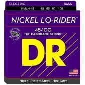 Струны для бас-гитары 45-100 DR NMLH-45 Lo-Rider Nickel Plated Steel / Hex Core