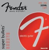 Струны для электрогитары 09-42 Fender 3250L Super Bullets Nickel-Plated Steel Light
