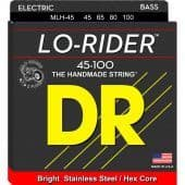 Струны для бас-гитары 45-100 DR MLH-45 Lo-Rider Stainless Steel / Hex Core