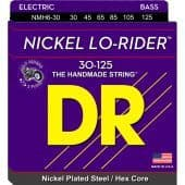 30-125 DR NMH6-30 Lo-Rider Nickel Plated Steel / Hex Core 6-String