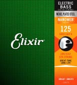 Струны для бас-гитары 125 Elixir 15425 Nanoweb Coated Super Light B