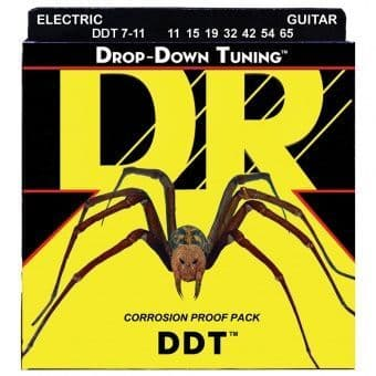 Струны для электрогитары 11-65 DR DDT7-11 Drop-Down Tuning 7 String