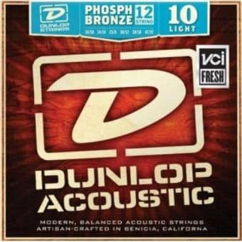 10-47 Dunlop DAP1047J Phosphor Bronze Light 12-String