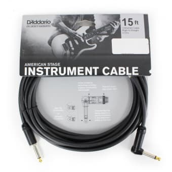 Кабели 4.57m D'Addario Planet Waves PW-AMSGRA-15 American Stage Instrument Cable (Angle Jack)