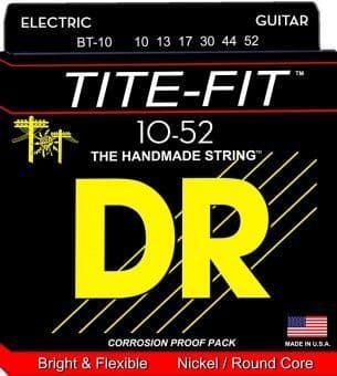 Струны для электрогитары 10-52 DR BT-10 TITE-FIT Nickel/Round Core