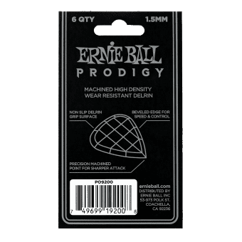 Наборы медиаторов 1.5 mm Ernie Ball 9200 Prodigy Black Mini 6 pcs