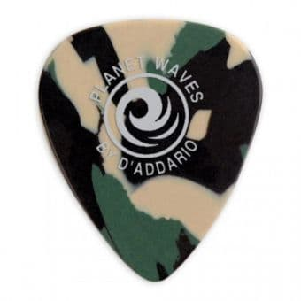 Медиаторы поштучно 0.50 mm D'Addario Planet Waves Classic Celluloid Camoflauge