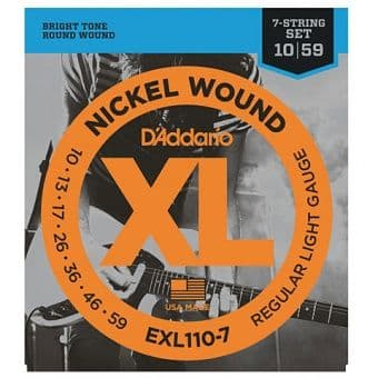 Струны для электрогитары 10-59 D'Addario EXL110-7 Nickel Wound Regular Light Gauge 7-String