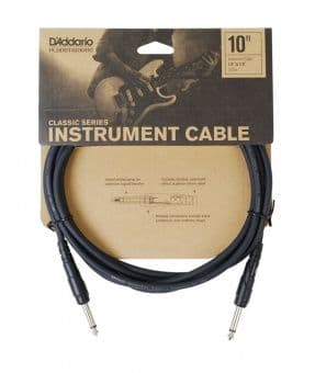 Кабели 3.05m D'Addario Planet Waves PW-CGT-10 Classic Series Instrument Cable
