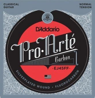 Струны для классической гитары (нейлон) 24-44 D'Addario EJ45FF Pro Arte Carbon Silverplated Fluorocarbon Normal Tension