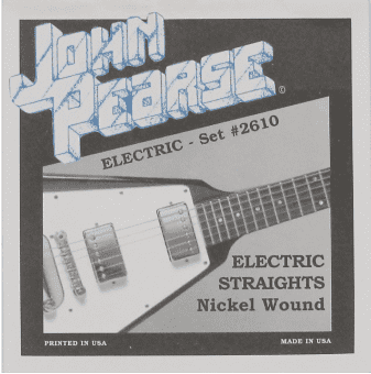 Струны для электрогитары 11-50 John Pearse 2610 Nickel Wound Electric Straights