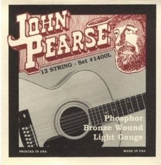 10-47 John Pearse 1400L Phosphor Bronze Wound 12 String Light Gauge